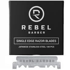Rebel Barber - Single Blade - Сменные лезвия для опасных бритв, 100шт, фото 1