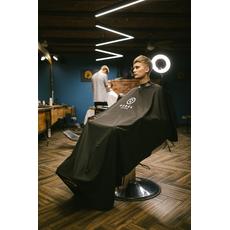 "Rebel Barber ""Noble Black"" - Пеньюар с неопреновым воротником, фото 4"