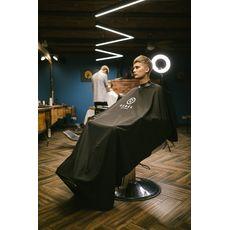 "Rebel Barber ""Noble Black"" - Пеньюар с неопреновым воротником, фото 3"