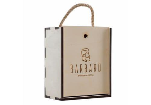 Barbaro GIFT BOX - Набор для бритья v.3 с чашей в деревянном, фото 1