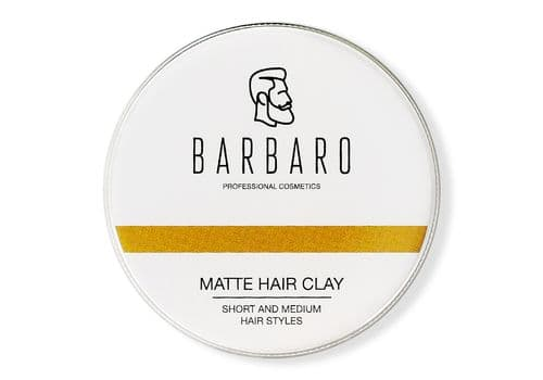 Barbaro Matte Hair Clay - Матовая глина для укладки волос, 200 г, фото 1