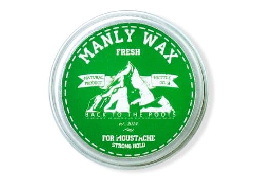 Manly Wax original, fresh - Воск для усов и бороды, 15 мл, фото 1