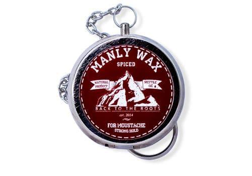 Manly Wax original, spiced -  Воск для усов и бороды, 20 мл, фото 1