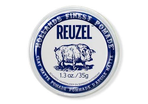 Reuzel Clay matte pomade pig — глина сильной фиксации, 35г, фото 1