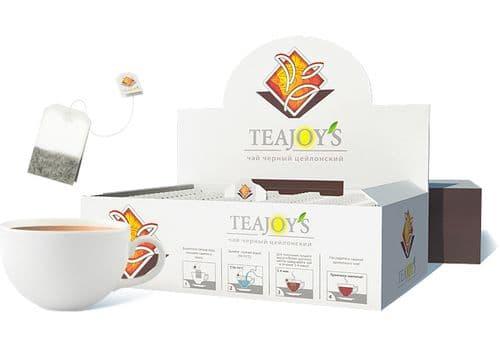 TEAJOY'S - чай черный цейлонский, (100 пакетиков по 2 гр), фото 1