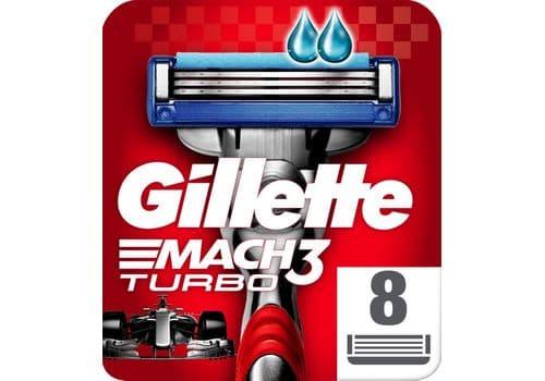 Gillette Mach3 Turbo – кассеты для бритья, 8 кассет, фото 1