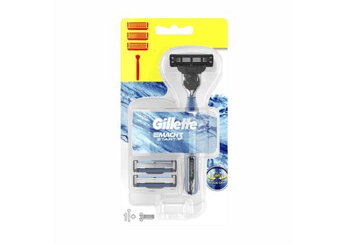 Gillette Mach3 Start – бритвенный станок + 3 кассеты, фото 1