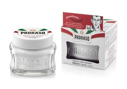 Proraso Before Shaving - крем до бритья для чувствительной кожи с зеленым чаем и овсом, 100 мл, фото 2