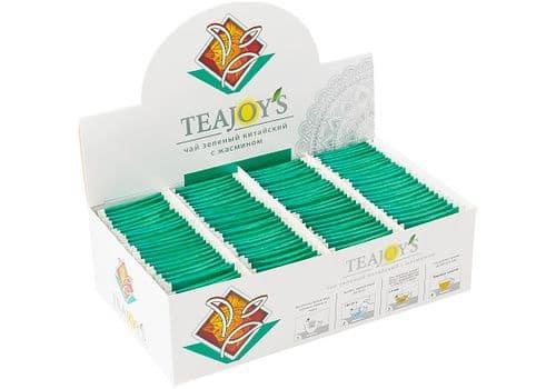TEAJOY'S - чай зеленый байховый китайский с жасмином, (100 пакетиков по 2 гр), фото 1