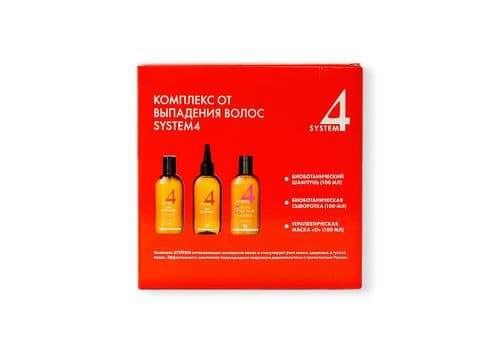 Sim Sensitive System 4 - Комплекс от выпадения волос, (шампунь 100 мл + маска 100 мл + сыворотка 100 мл), фото 1
