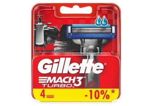 Gillette Mach3 Turbo – кассеты для бритья, 4 кассеты, фото 1