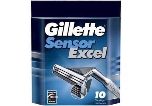 Gillette Sensor Excel – кассеты для бритья, 10 шт., фото 1
