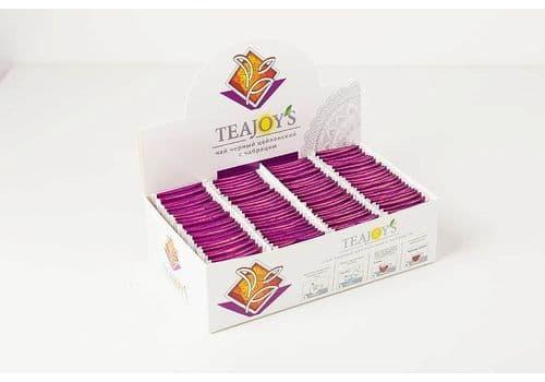 TEAJOY'S - чай черный байховый с чабрецом, (100 пакетиков по 2 гр), фото 1