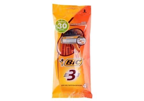 Bic Sensitive3 – бритвы одноразовые, 4 шт., фото 1