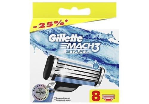Gillette Mach3 Start – кассеты для бритья, 8 кассет, фото 1